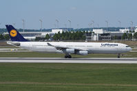 D-AIFE @ EDDM - A340 of LH just landed at MUC.
