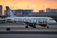 N940FR @ KLAS - Frontier Airlines - 'Snowshoe Hare' / Airbus A319-111