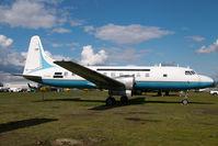 C-FJVD @ CYXX - Conair Convair 580 in ex FAA colors