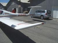 N104KS @ SZP - 1995 Diamond DA-20-A1 KATANA (Samurai Sword), Rotax 912A-3 79.9 Hp, 2.27/1 reduction gear to Hoffman composite blades Constant Speed prop, cruise speed at 75% 137 mph, T-tail - by Doug Robertson