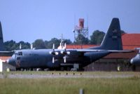 85-0036 @ MXF - C-130H shot from highway using 600mm lens with 2X teleconverter.  Long distance! - by Glenn E. Chatfield