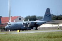85-0040 @ MXF - C-130H shot from highway using 600mm lens with 2X teleconverter.  Long distance! - by Glenn E. Chatfield