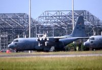 85-0037 @ MXF - C-130H shot from highway using 600mm lens with 2X teleconverter.  Long distance! - by Glenn E. Chatfield