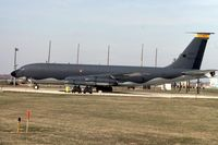 58-0014 @ ORD - KC-135E on the ready pad - by Glenn E. Chatfield