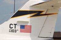 84-0103 @ KWRI - TAIL of new CT C-21 - by Nick Michaud