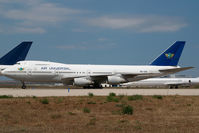 5B-AUD @ ATH - Air Universal Boeing 747-200 - by Yakfreak - VAP