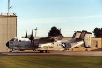 162167 @ CID - C-2A on the Rockwell-Collins ramp - by Glenn E. Chatfield
