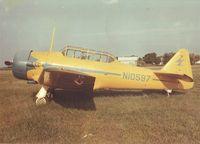 N10597 @ LOBMASTER  - Harold Baker'sSNJ-4 at Lobemaser Field circa 1965 - by Wayne Baker