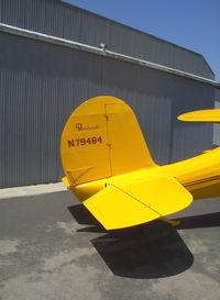 N79484 @ SZP - 1943 Beech D17S STAGGERWING, P&W R-985 Wasp Jr. 450 Hp, tail data - by Doug Robertson