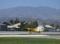 N1017U @ SZP - !939 Bucker Jungmann C.A.S.A. 1.131, Lycoming O-360 180 Hp upgrade, landing roll Rwy 22 - by Doug Robertson