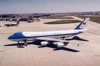 82-8000 @ CID - Air Force One parked on the cargo ramp below the control tower - by Glenn E. Chatfield