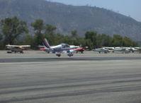 N110AM @ SZP - 1996 Moravan Zlin Z242L fully aerobatic, Lycoming AEIO-360-B 200 Hp, near touchdown Rwy 22 - by Doug Robertson
