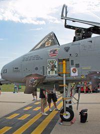 79-0123 @ LSE - A-10 Thunderbolt, 79-0123, On display at the Deke Slayton Airfest in La Crosse, WI - by Timothy Aanerud