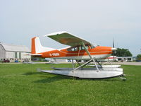 C-FBOR @ CNJ4 - C-FBOR Cessna 185 on  floats at Orillia - by Pete Hughes