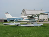 C-FQZT @ CNJ4 - C-FQZT Cessna 172 on  floats at Orillia - by Pete Hughes