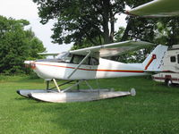 C-FOJF @ CNJ4 - C-FOJF Cessna 172 on  floats for sale at Orillia - by Pete Hughes