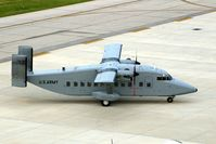94-0311 @ CID - C-23B Sherpa parking at Landmark FBO - by Glenn E. Chatfield