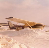 N2430U @ MRT - Y'all down south - don't complain!  Winter of 1976-77 at Marysville, OH.
