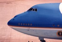 82-8000 @ CID - Close up of Air Force One from the tower - by Glenn E. Chatfield