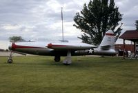 51-0791 @ SGH - F-84G on display at the Air National Guard Armory - by Glenn E. Chatfield