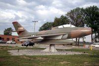 51-1797 @ SGH - F-84F mounted at the Air National Guard base - by Glenn E. Chatfield