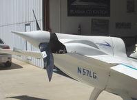 N57LG @ SZP - 1983 Godsey/Klaus Savier modified Rutan VARI-EZE, Continental O-200 100+ Hp, World multiple record FAI speed holder, scimitar prop with faired spinner - by Doug Robertson