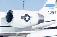 84-0064 @ CID - C-21A engine and insignia - by Glenn E. Chatfield