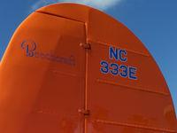 N333E @ KFNL - Tail Detail - by Bluedharma