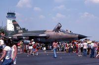 61-0075 @ LCK - F-105D at Rickenbacker Air Force Base air show day - by Glenn E. Chatfield