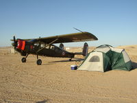 N60FG @ L90 - Camping under the wing of Broussard 214 at Ocotillo Wells - by FieryNature