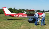 N2430U @ 42I - That's my dad (L), who owned this plane in the 70's and Forrest Garey (R), the current owner.  This is the first time Dad & I have seen this plane in 30 years.  Breakfast/Lunch fly-in at Zanesville, OH.