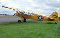 G-FUZZ @ EGBR - Piper Cub wears markings 51-15319