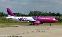 LZ-WZA @ EGGW - Wizz Air A320 - by Terry Fletcher