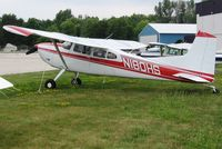N180HS @ ETB - Tied down at West Bend, WI - by Bob Simmermon