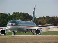 N605AU @ PVD - US Airways B757 N605AU takes runway five at PVD as it prepares to depart Oct 22nd 2002 - by Geoff Cook