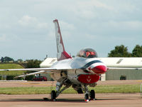 86-0041 @ EGVA - F-16D/Thunderbirds ADS/RIAT Fairford (Thunderbird 8) - by Ian Woodcock
