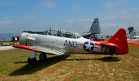 N1387N @ WVI - 1952 Canadian Car & Foundry CCF-HARVARD MK IV in ANG marks @ Watsonville, CA airshow - by Steve Nation