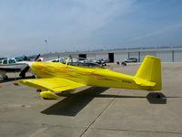 N1415X @ WVI - Bright yellow 1999 Combs VANS RV-8 homebuilt @ Watsonville, CA airshow - by Steve Nation