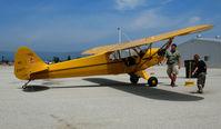 N21677 @ WVI - 1938 piper J3C-65  as NC21677 @ Watsonville, CA airshow - by Steve Nation