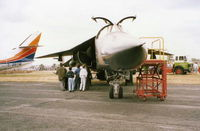 70-2411 @ EGCD - F-111 - Woodford Air Show 1989 (Scanned) - by David Burrell