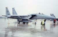 75-0022 @ ORD - F-15A at the ANG/AFR open house.  Very rainy day. - by Glenn E. Chatfield