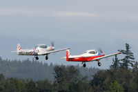 C-GTZV @ CYNJ - Two of 4 taking off . Part of the  Fraser Blues  flight demo team. - by Guy Pambrun