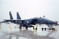 87-0190 @ ORD - F-15E at the ANG/AFR open house, in heavy downpour - by Glenn E. Chatfield