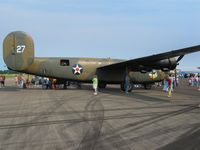 N24927 @ LHQ - B24 Liberator at Wings of Victory Airshow - Lancaster, OH - by Bob Simmermon