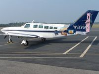 N1376G @ KEWB - N1376G with Cape Air is one of several of the company's Cessna 402s with a special livery - by Geoff Cook
