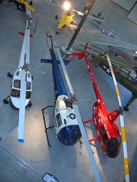 57-2729 @ IAD - National Air and Space Museum, Bell H-13J-BF Sioux, used by President Eisenhower, Bell 47 N116B is on the left and Robinson R44 G-MURY on right - by Timothy Aanerud