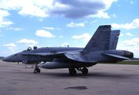 163505 @ CID - F/A-18C Stopping over - by Glenn E. Chatfield