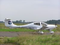 G-OCCU @ EGTC - DA40D at Cranfield - by Simon Palmer