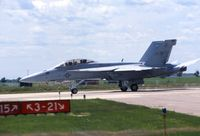 165795 @ DVN - F/A-18F at the Quad Cities Air Show - by Glenn E. Chatfield