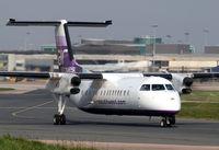 G-WOWE @ EGCC - Air Southwest Dash 8 - by Kevin Murphy